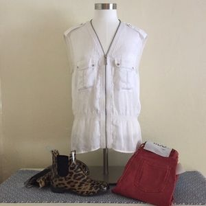 White Michael Kors sleeveless blouse
